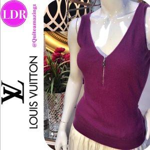 LOUIS VUITTON Purple Knit Cashmere Top
